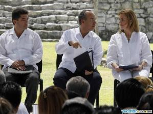 Presidente Felipe Calderon en Tulum