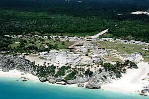 Tulum Ruins Aerial Shot
