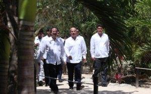 President Calderon in Tulum